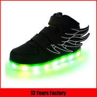 man and women light up shoes
