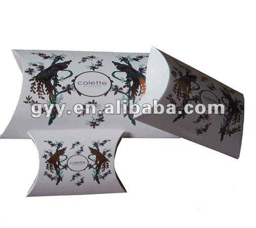 Foldable pillow pack paper box for silkscarf