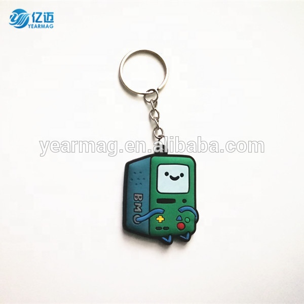 Custom design three-dimension double-sided rubber soft pvc keychain for cheap promotional gifts keyring with personalized logo