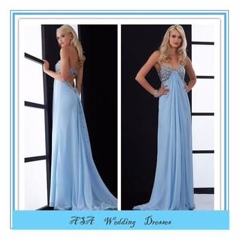 68bd2393c4b Sexy Light blue Empire Waist long prom dresses for pregnant groom 2015  (YASA-838