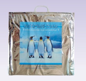 Thermal aluminum foil insulated cooler bag for frozen food