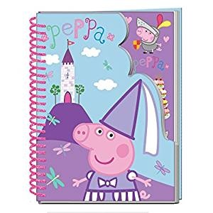 Childrens Kids Peppa Pig A5 Scribble Wiro Pad Paper Stickers Writing Party Gift