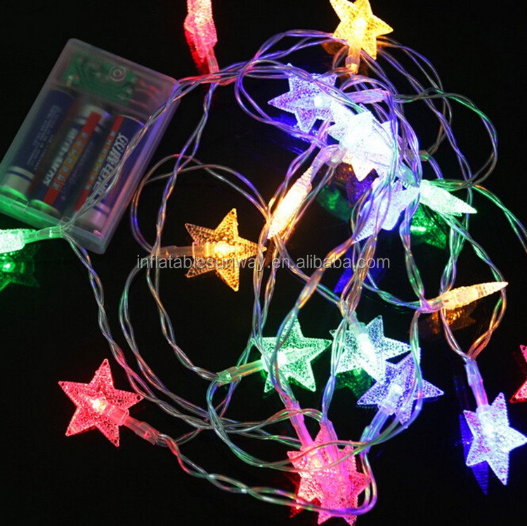 Star Batteries Led String Fairy Christmas Light Small Battery Operated