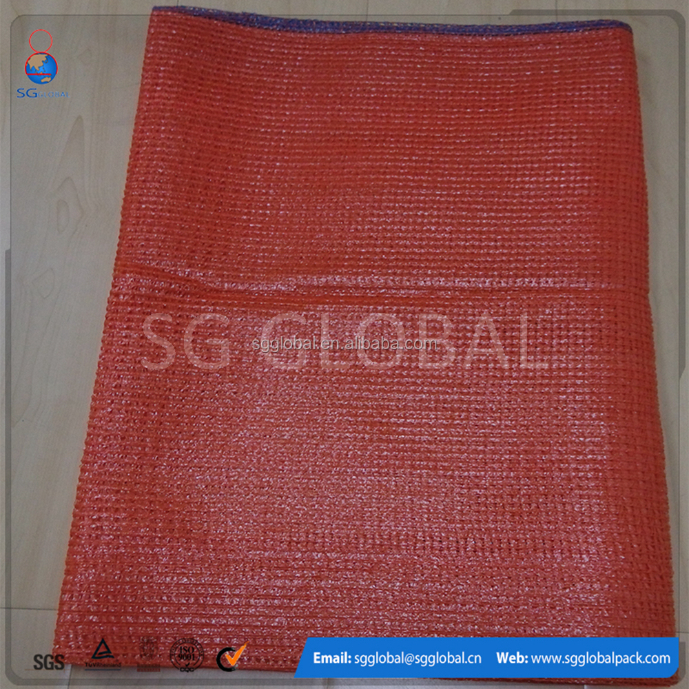 red color wholesale mesh onion bags