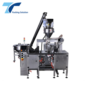 aluminium stand up pouch filling and sealing machine doypack pouch packing machine for milk protein detergent cocoa powder