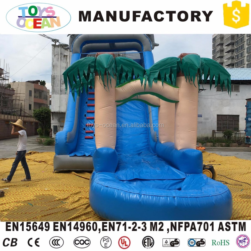 Tropical Jungle big cheap inflatable wild rapids water slides for sale