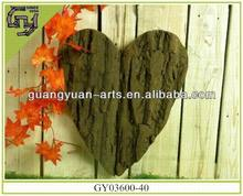 natural material heart arts sale christmas adornments for home/holiday decor