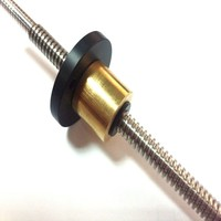 Tr8x2 anti-backlash trapezoidal lead screw 8mm diameter with 2mm pitch