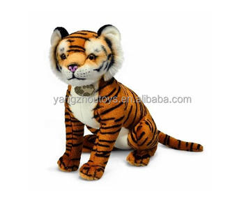 artificial fur not real tiger plush toy