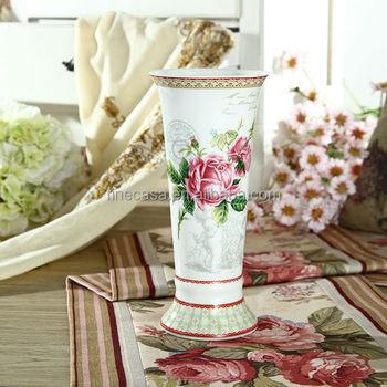 Elegant Rose Design Fine Porcelain large flower vases