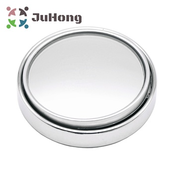 "2.5"" Large Convex Wide Angle Mirror Chrome Plated Frame Blind Spot Mirrors Fully Adjustable Secure Adhesive Tape"