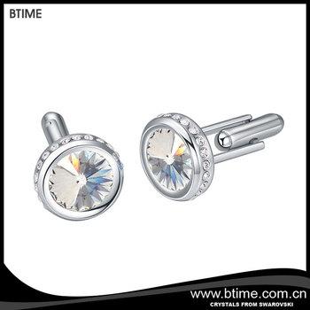 59687abd0028 Btime jewellery Simple cufflinks Embellished with crystals from Swarovski  new design cufflinks