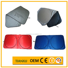 Low temprature sun shelter for front window car sun shades