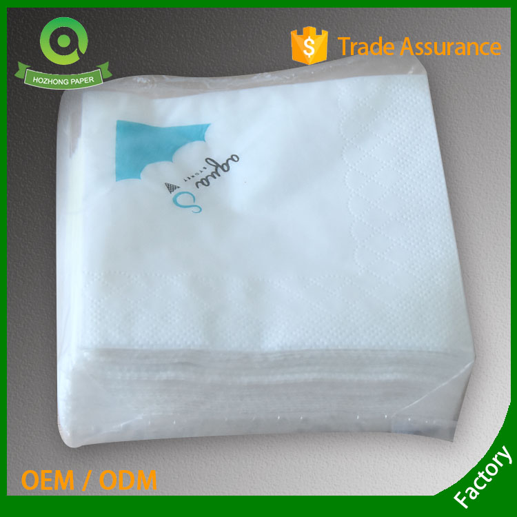 printed paper napkin with two colors logo
