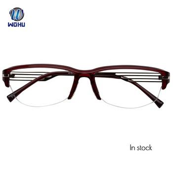 1b121da66104 Red Square Semi-rimless Optical Myopia Glasses Frame Women Reading Glasses  Prescription Glasses Dropshipping