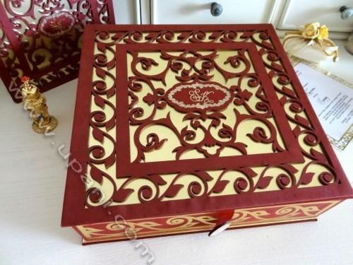 Indian Laser Cut Wedding Invitations Box