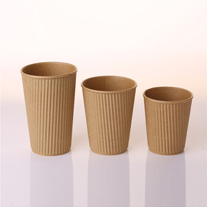 16Oz Brown Disposable Hollow Kraft Paper Cups