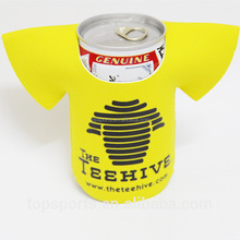 Newest T-shirt style insulated foldable neoprene waterproof beer bottle can holder
