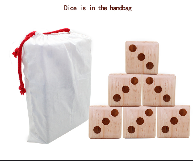 New arrival Pine Wooden Dice products on sale with white bag