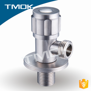 "cast iron stainless steel for water meter three way motorized 1/2""*3/4"" toilet bathroom kitchen chromed plated angle seat valve"