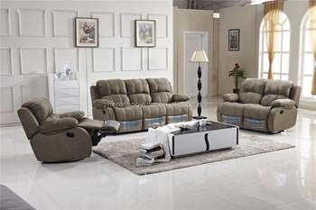 2017 New Design Living Room Furniture Fabric Recliner Sofa Set 3 2 1