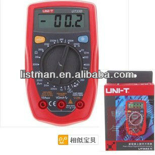 Free shipping UNI-T UT-33D Series handheld Palm-Size Digital Multimeters Digital LCD Palm Multimeter-Ohm