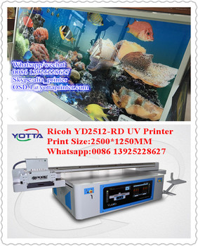 LED flatbed uv printer on MDF, wood, composites, acrylic, plastic, glass,ceramic tile,aluminum,Ceiling