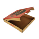 Logo printed brown kraft paper box 11inch styrofoam pizza box design template