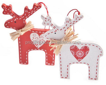 2018 new hot handmade wholesale felt ornament polyester hanging white lowes outdoor christmas decorations deer made - Lowes Christmas Decorations Deer