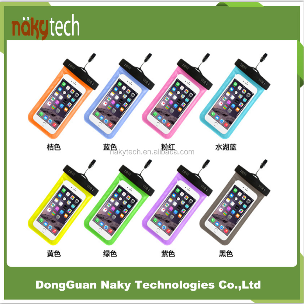 For iPhone 6s/6plus Universal PVC Underwater pouch Diving case,waterproof bag for mobile phone