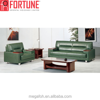 Factory Whole 3 2 1 Executive Office Leather Sofa Set For Guest Reception