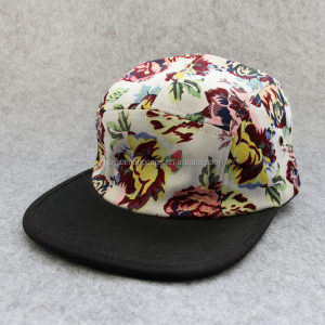 8fdc6c9f8029f Custom Nylon 5 Panel Camp Hat