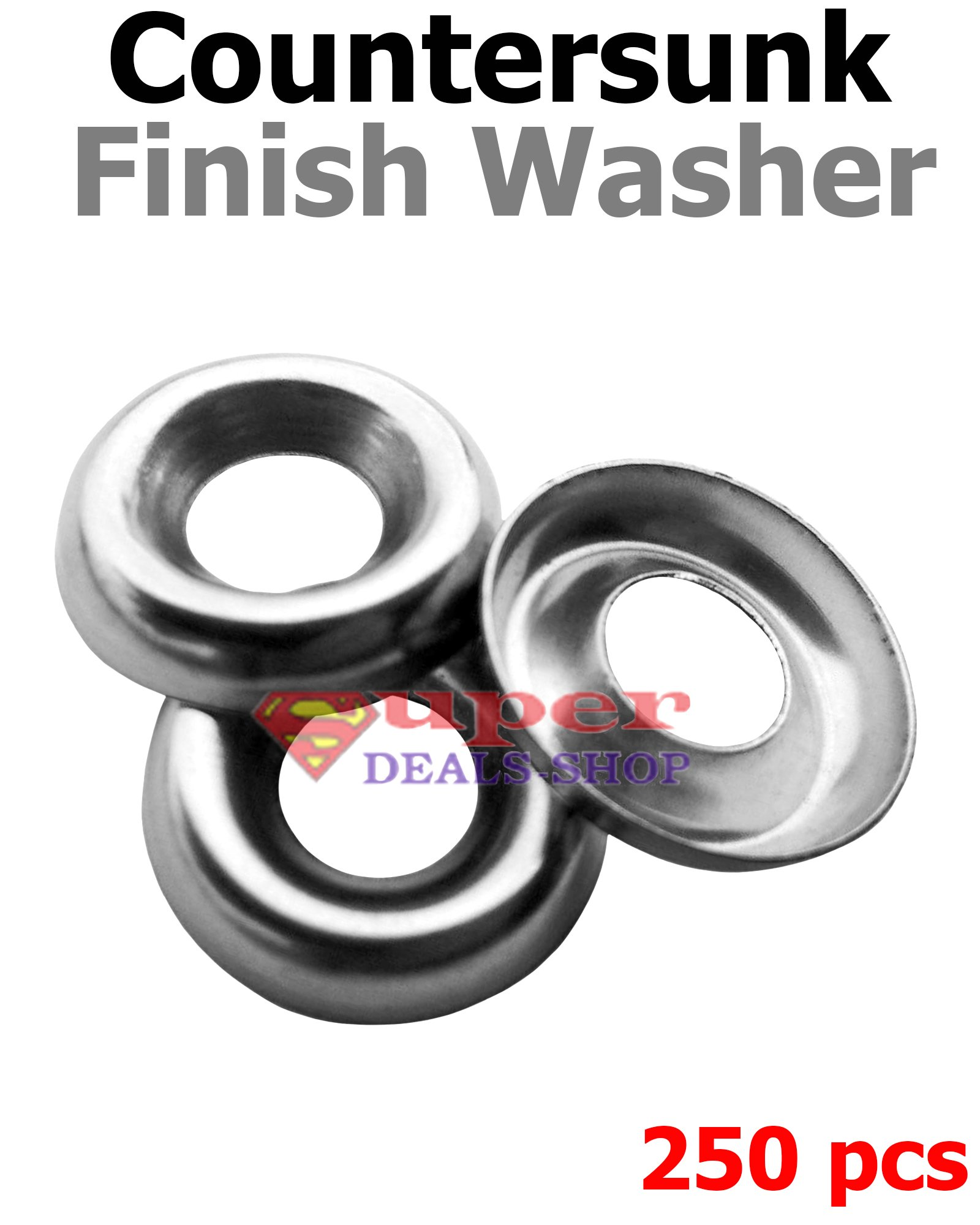 #8 Cup Washer//Countersunk Finishing Washer Brass Pk 50