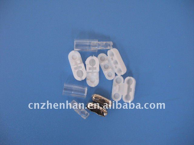 Clear color roller blind columnar chain connector plastic bead buckle for roman blind vertical blind part