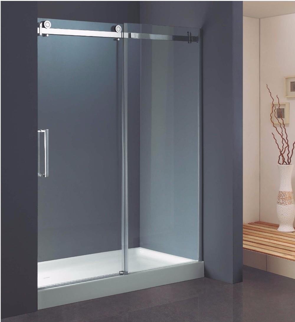 Rectangle Sliding Roller Hardware 10mm Glass Frameless Shower Door ...