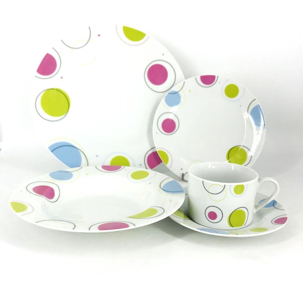 2018 16pcs English British Style Fine Chinese Porcelain Dinner Sets