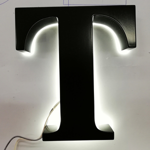 Attractive back lit luminous letter signage used led metal surface signs