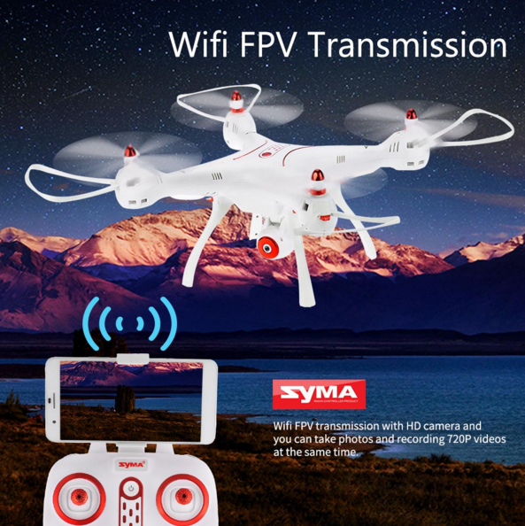 2017 new Syma X8SW Wifi FPV Quadcopter RC Drone With 720P HD Camera 2.4G 4CH 6-Axis Barometer Set Height RTF