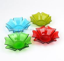 Red, Blue,Green Color Flower-shape Glass Candle Holder