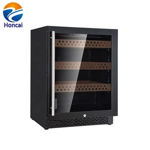 127liters 150 cans digital wine cooler beech shelves fan cooling compressor hotel beverage fridge wine refrigriator