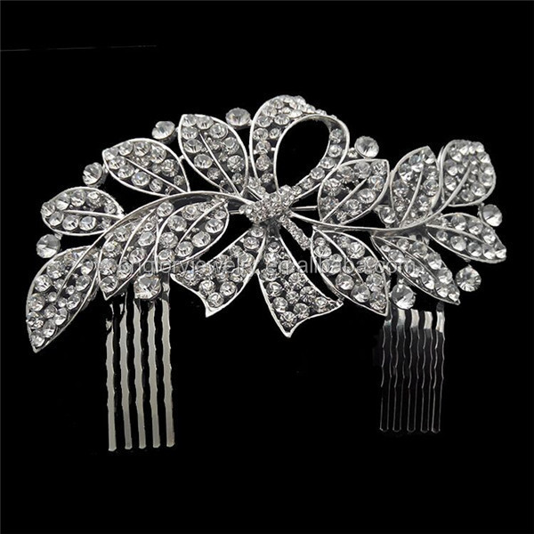 New design bride hair accessories crystal hair combs