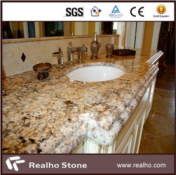 Bon Ogee Edge Golden Brown Persa Granite Countertops