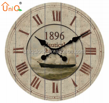shabby chic antique vintage decorative wood wall clock
