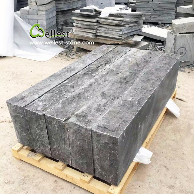 Great China Grey Natural Split Outdoor Stone Stair Treads Blue Limestone Steps