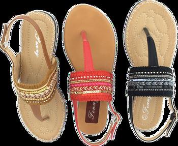 3bc7a483c Hot Sale Womens Ladies Flat Sandals Flip Flops Comfort Tpr Outsole ...