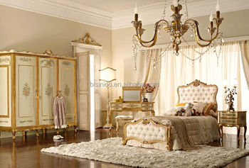 Italy Wood Bedroom Set Concise And Elegant Girls Bedroom Set Hand - Girls-bedroom-sets-painting