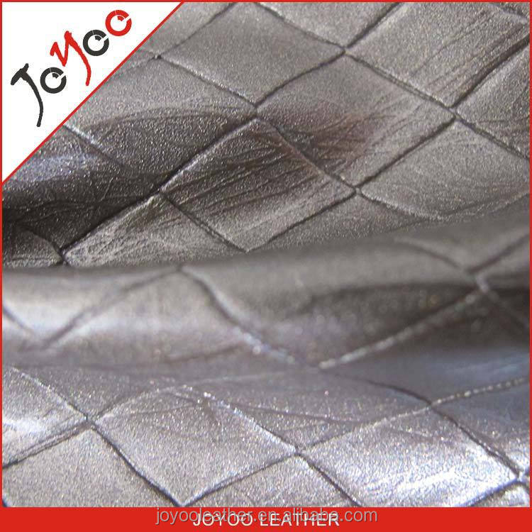 Elegant Diamond Pattern PVC leather for decoraion, PVC material for upholstery
