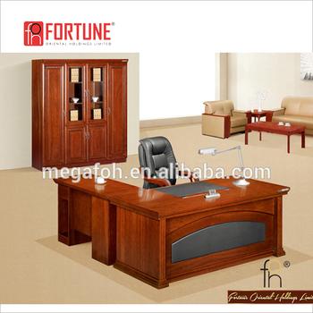 Traditional Executive Writing Desk / Mdf Wood Veneer Office Table  (fohk 2052)   Buy Wood Veneer Executive Desk,Office Desk With Locking  Drawers,Office ...