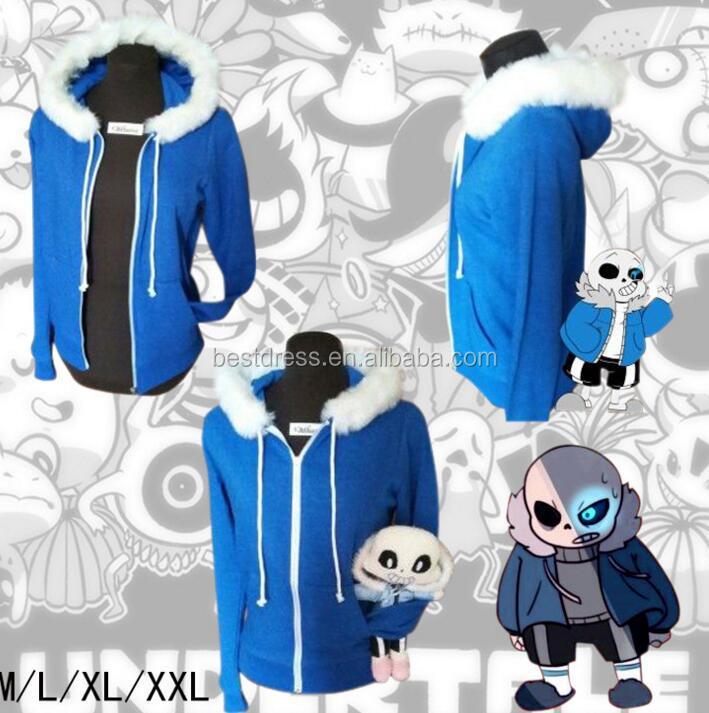 Cooperative Game Sans Undertale Hoodie For Adult Men Sans Undertale Hoodie Zipper Men Winter Coat Cosplay Halloween Hoodies & Sweatshirts