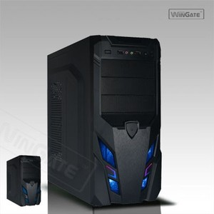 Black Meshed ATX Mid Tower LED Gaming Screwless Computer Case PC